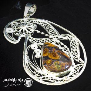 مدال نقره ملیله کاری