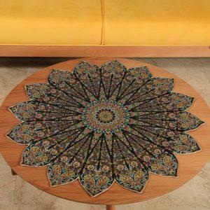 رومیزی ترمه چهل تکه طرح تحفه ترمه حسینی یزد